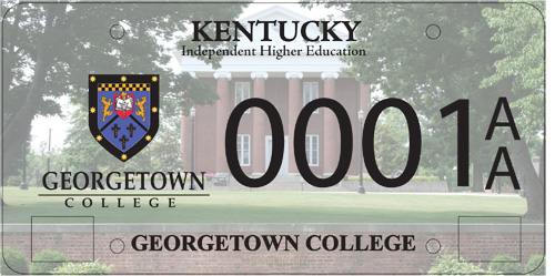 Georgetown College License Plate