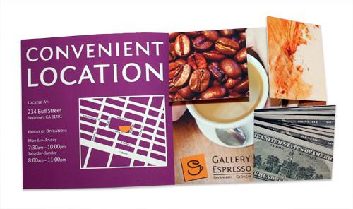 Gallery Espresso Mailer - Inside