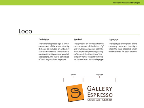 Gallery Espresso Visual Identity - Logo Usage