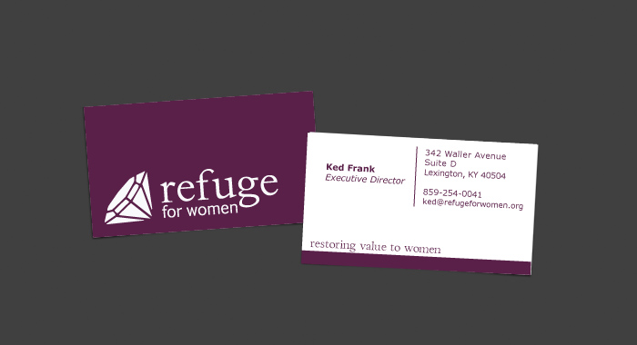 Refuge for Women Business Card