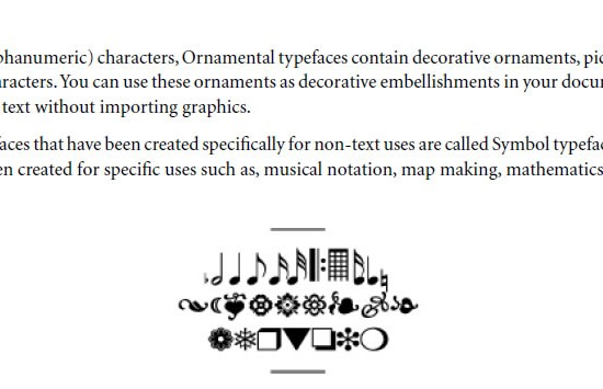 Ornamental Typeface Classifications