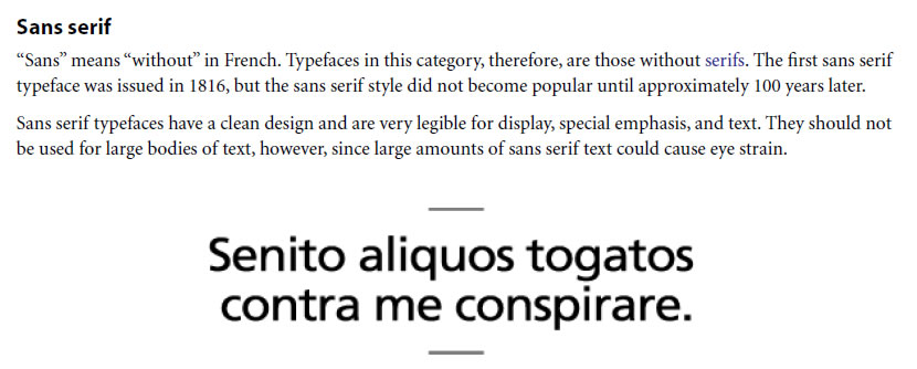 Sans Serif Typeface Classifications