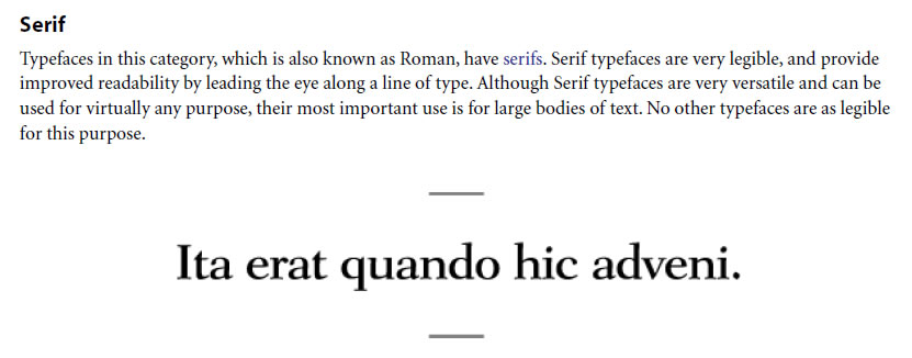 Serif Typeface Classifications