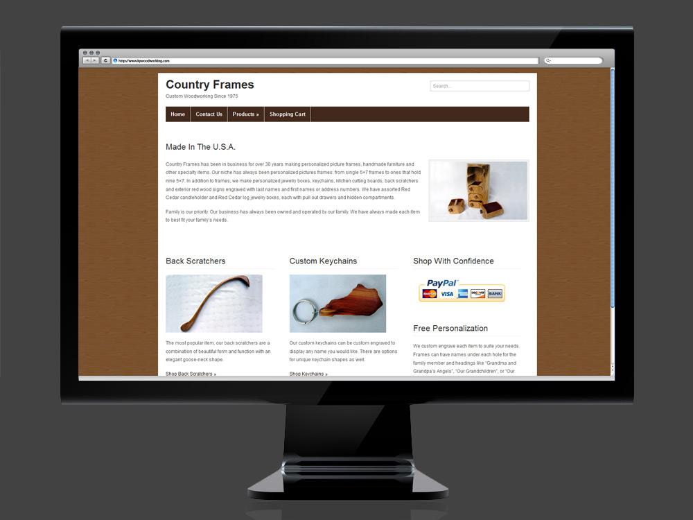 Kentucky Woodworking, Country Frames Website