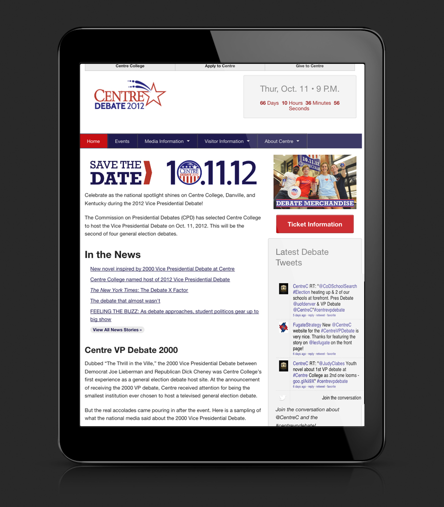 Debate Website: iPad view