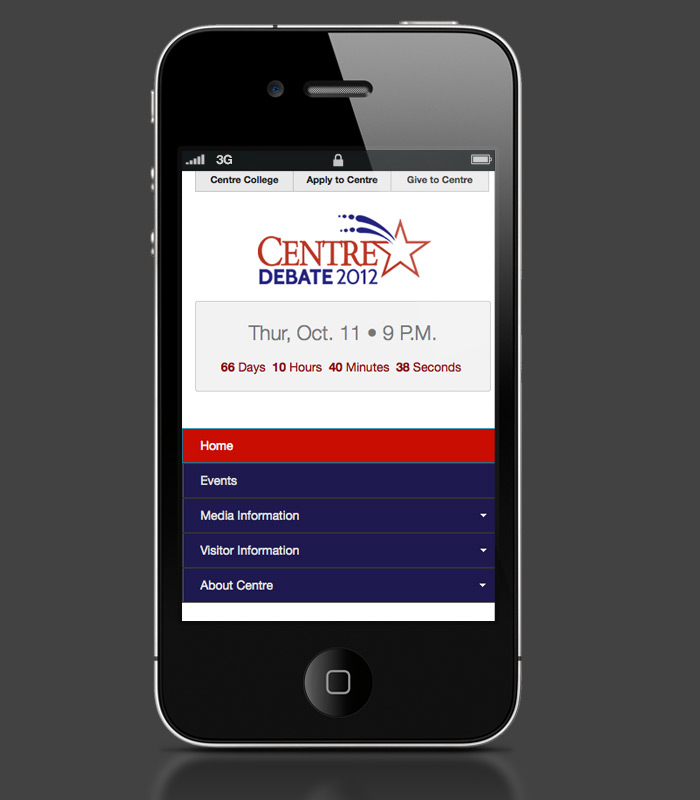 Debate Website: iPhone view