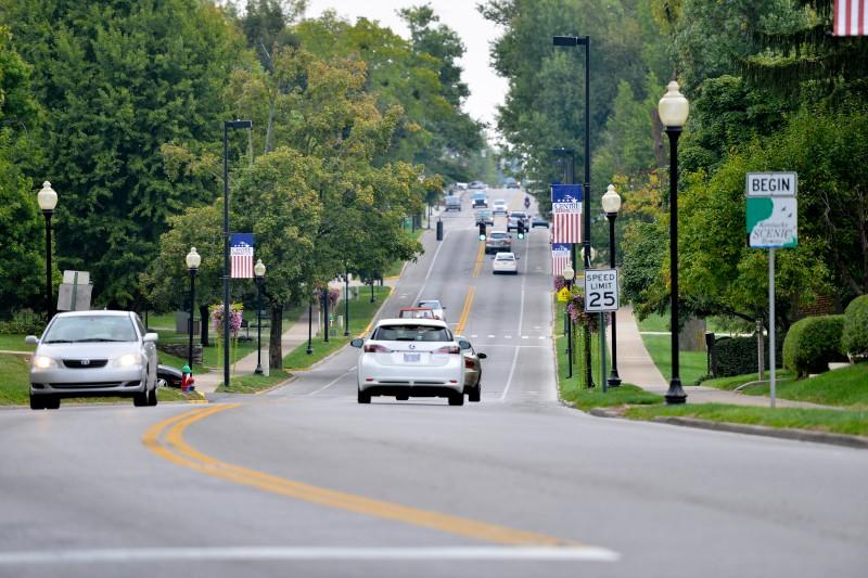 VP Debate Main Street Banner - stripes