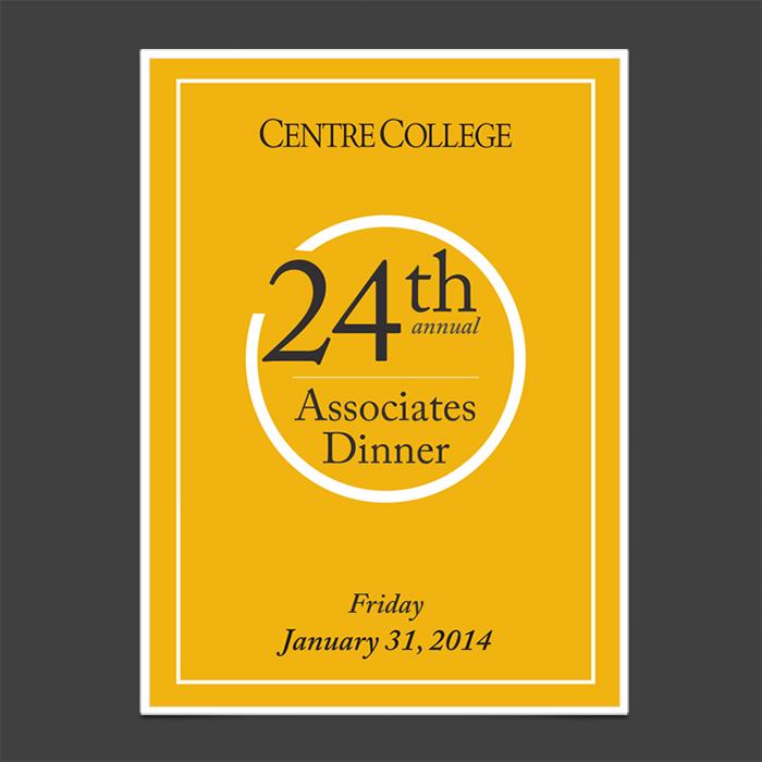 Associate's Dinner Invitation - Front